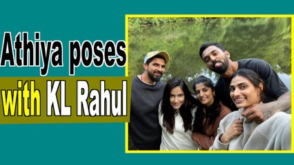 Athiya Shetty poses with rumoured boyfriend KL Rahul in England