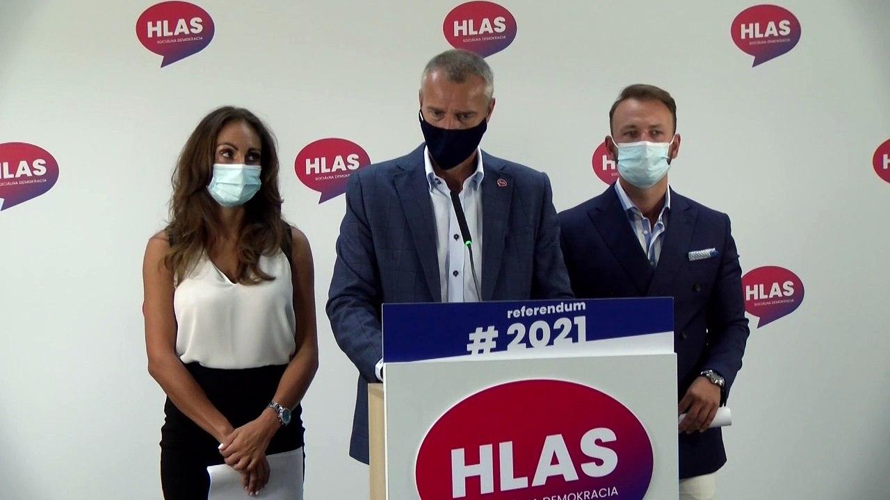 ZÁZNAM: TK strany HLAS-SD - kritika vlády za prípravu na tretiu vlnu