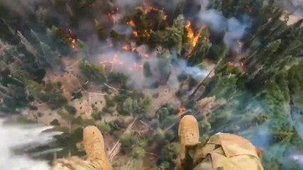 Hoch über dem Dixie-Feuer: Mit Hubschraubern gegen den Monster-Waldbrand