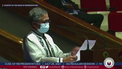 House Minority Leader Stephen Paduano delivers 'contra-SONA'