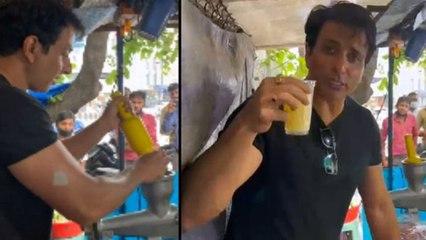 Sonu Sood Making Orange Juice At Hyderabad, Video Goes Viral | Oneindia Telugu