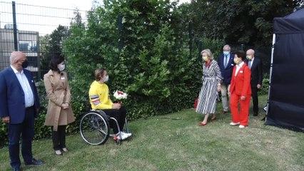 La princesse Astrid encourage les athlètes paralympiques avant leur départ pour Tokyo