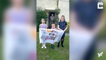 Vater sieht nach 4 Monaten bei der Royal Air Force seine Kinder wieder