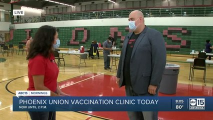 Phoenix Union hosting vaccination clinic today