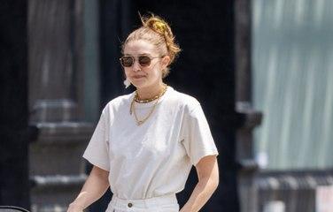Gigi Hadid Wore the Blingiest White Jeans