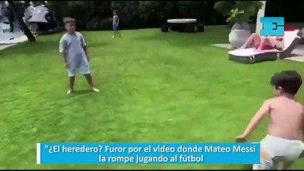 ¿El heredero Furor por el video donde Mateo Messi la rompe jugando al fútbo