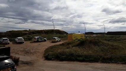 Emergency vehicles at Trow Rocks