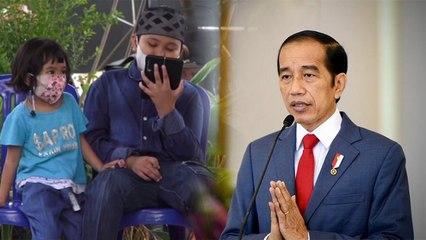Jokowi Video Call Anak yang Azan di Makam Orang Tuanya