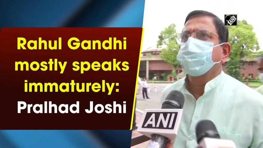 Rahul Gandhi mostly speaks immaturely: Pralhad Joshi
