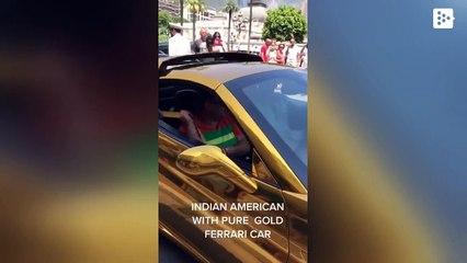 """Anand Mahindra comparte un vídeo de un """"Ferrari de oro"""" y la publicación se vuelve viral"""