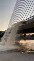 Évacuation des eaux du tunnel de Cointe