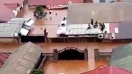 Conakry : le quartier Kobaya baffons sous les eaux (Vidéo)