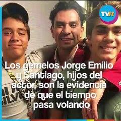Así lucen los hijos gemelos de Jorge Salinas