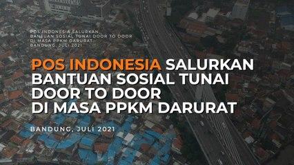 Pos Indonesia Salurkan BST Door to Door di Masa PPKM Darurat