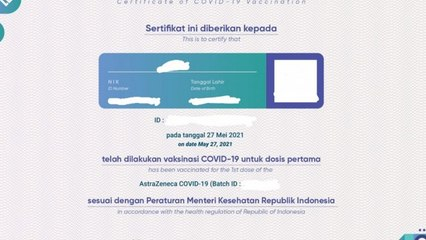 Manfaat Kartu Vaksin COVID-19 saat PPKM