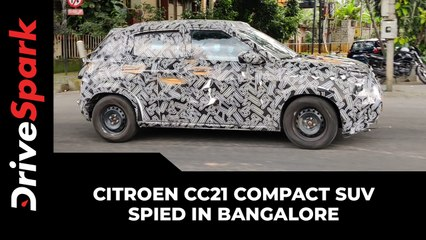 Citroen CC21 Spied In Bangalore | Compact SUV Spotted Testing