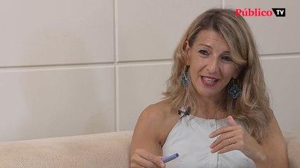 """Yolanda Díaz: """"El Gobierno progresista no puede funcionar con las reglas de juego marcadas por el liberalismo más brutal"""""""