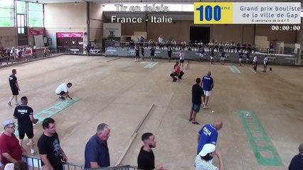 Gap, les cent ans : France / Italie, le trophée des légendes, le tir en relais