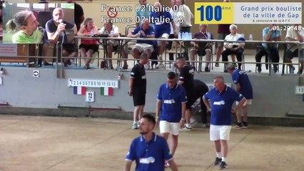 Gap, les cent ans : France / Italie, le trophée des légendes, la quadrette