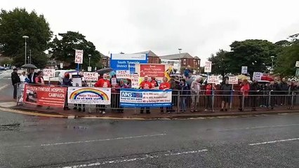 Campaigners at South Tyneside District Hospital