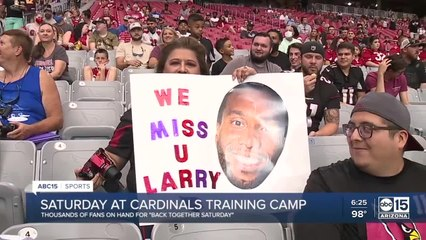 Cardinals allow fans back at training camp for the first time in two years