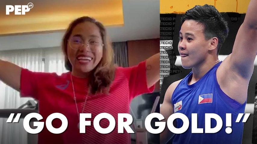 Hidiylyn Diaz binati si Nesthy Petecio to GO FOR GOLD!