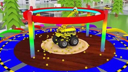 Color Change Street Vehicles Game _ Soccer Balls Street Vehicles Cars Trucks Parking Games 3D Videos
