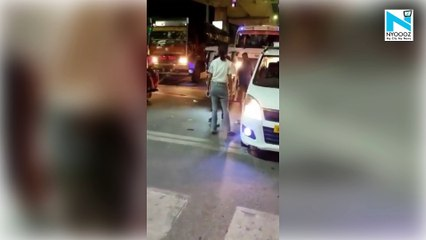 Watch, Girl thrashing cab driver in middle of the road in Lucknow goes viral