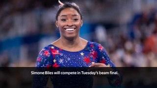 Simone Biles on start list for beam final
