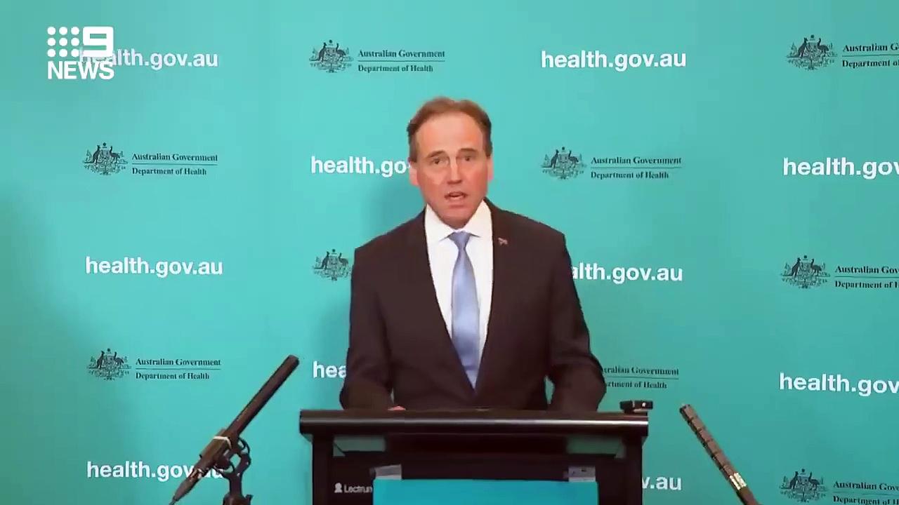 Health Minister provides national COVID-19 update _ Coronavirus _ 9 News Australia