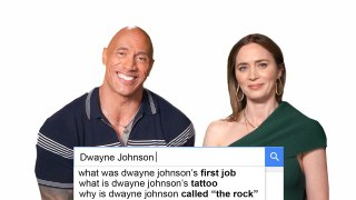 Emily Blunt & Dwayne Johnson Answer The Web s Most