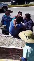Ayudantes de buses extraurbanos se van a los golpes por pelear pasaje