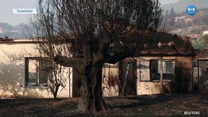 Yunanistan'daki Orman Yangınlarına Uçakla Müdahale