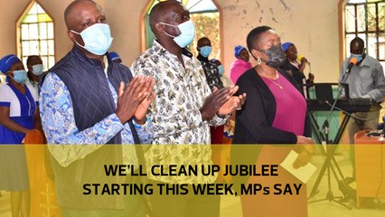 We'll clean up Jubilee starting next week, MPs say