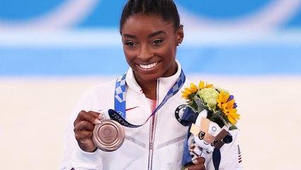 Simone Biles Wins Bronze Medal on Balance Beam in Olympic Return