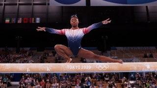 Simone Biles Returns to Tokyo Olympics to Win Bronze Medal in Balance Beam Final   THR News