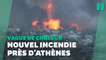 Grèce: Un incendie ravage une colline au Nord d'Athènes, 300 personnes évacuées