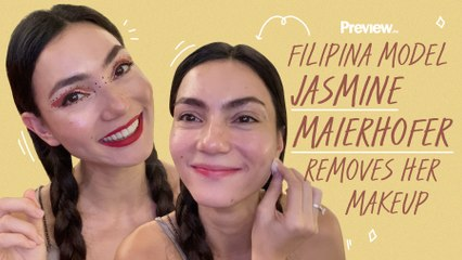 Filipina Model Jasmine Maierhofer Removes Her Makeup with Olive Oil   Barefaced Beauty   PREVIEW