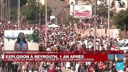 Explosion à Beyrouth, un an après : l'enquête au point mort, colère et douleur dans le pays