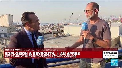 """Explosion à Beyrouth, un an après : """"Ça me fait chaud au cœur de voir toutes ces personnes dans la rue"""""""