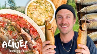 Brad Makes Smoked Whitefish In Montana