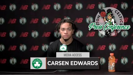 """Carsen Edwards: """"I Just Go In Every Day And Try To Be The Best I Can.""""   FULL Interview 8-4"""