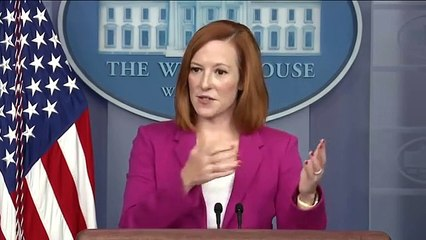 'I didn't say that.' Psaki has tense exchange with reporters over constitutionality of evictions