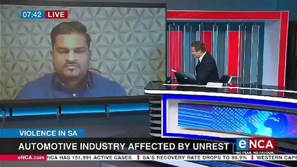 Automative industry affected by unrest and looting