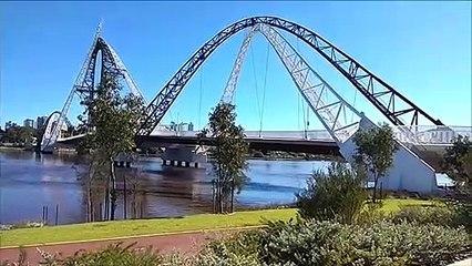 Stadium Park and Matagarup Bridge - Perth, Western Australia
