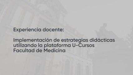 Estrategias didácticas a través de la plataforma U-Cursos