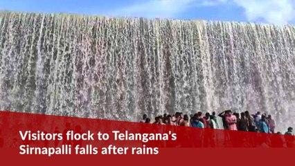 Visitors flock to Telangana's Sirnapalli falls after rains