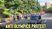 'Tokyo, Japan: Anti-Olympics Protestors Marching Toward NHK Ahead of the Opening Ceremony '