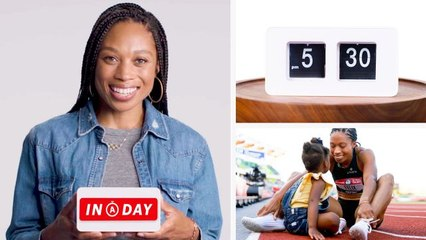 Everything Olympic Sprinter Allyson Felix Does in a Day