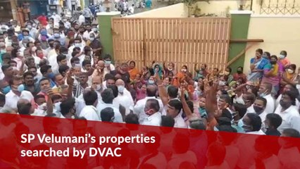 Former AIADMK Minister SP Velumani's properties searched by DVAC